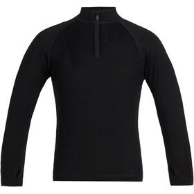 Icebreaker 260 Tech LS Half Zip Shirt Kids black